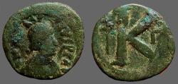 Ancient Coins - Anastasius I AE27 1/2 Follis. long cross.  gamma officiana