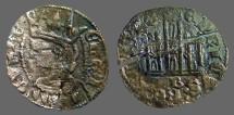 """Ancient Coins - Castilia and Leon, Alfonso XI. """"el Justiciero"""", billon denaro. 1312-1350 AD."""