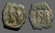 Ancient Coins - Heraclius AE follis, Heraclius, Heraclius Constantine, Empress Martina.