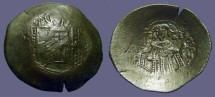 Ancient Coins - Isaac II, Angelus 1185-1195 AD Aspron Trachy. Constantinople mint.