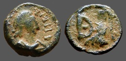 Ancient Coins - Justin I AE pentanummium, Tyche on Antioch seated in shrine   SB#111 Mint of Antioch.