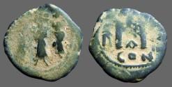 Ancient Coins - Heraclius & Heraclius Constantine , Empress Martina.  AE Follis.