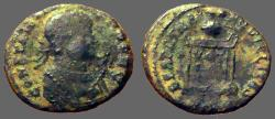 Ancient Coins - Constantine I AE3 Globe on Altar.  Trier