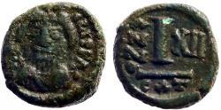 Ancient Coins - Heraclius AE13 Decanummium.  Catania. year 12
