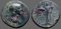 Ancient Coins - Trajan AE27 Dupondius. Felicitas