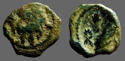 Ancient Coins - Aretas IV AE16 Aretas stg. l. holds spear / Shuqailat stg. l.  Petra.