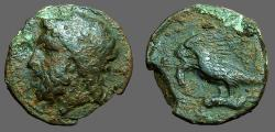 Ancient Coins - Akragas, Sicily AE18. Phintias. Zeus / Eagle w. hare