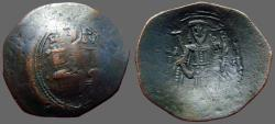 Ancient Coins - Isaac II, Angelus. AE25 Aspron Trachy  Constantinople