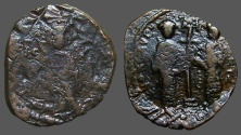 Ancient Coins - Constantine X and Eudocia Ae 27mm follis. Christ