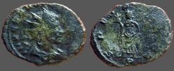 Ancient Coins - Claudius II Gothicus billon antoninianus.  Spes adv w. flower