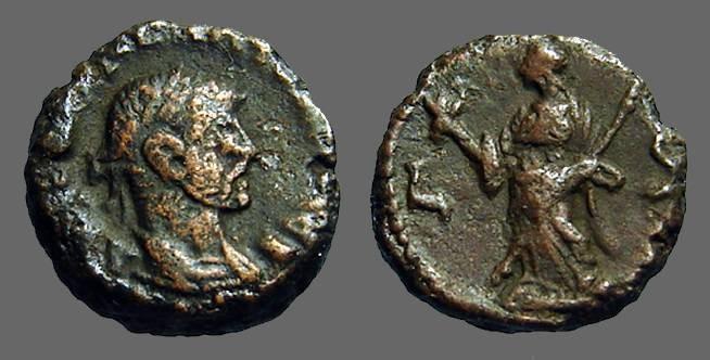 Ancient Coins - Diocletian billon tetradrachm, Alexandria. Eirene holds scepter & torch