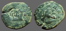 Fernando V & Isabella AE 2 Maravedis. countermarked w. Philip III,IIII