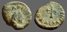 Ancient Coins - Arcadius AE4  Cross.  CONCORDIA.