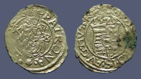 World Coins - Hungary Maximilian II Mother w. Christ Child / Coat of Arms.  1570