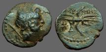 Ancient Coins - Lycia, Termessos Minor. AE20 Zeus/ Winged Thunderbolt, bee cntrmrk