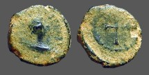 Ancient Coins - Valentinian II AE4 Cross in wreath.