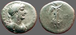 Ancient Coins - Hadrian AR Hemidrachm. Caesarea, Cappadocia.  Nike advancing