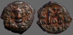 Ancient Coins - Constans II AE24 facing bust Follis.  Constantinople