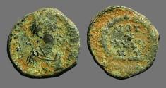 Ancient Coins - Theodosius I AE4 VOT/X/MVLT/XX.