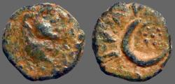 Ancient Coins - Elagabalus AE13 Carrhae, Mesopotamia.  Crescent moon & stars