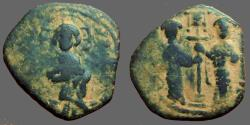 Ancient Coins - Constantine X and Eudocia Ae27 follis.  Constantinople