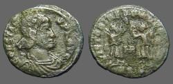 Ancient Coins - Constans AE3. 2 Victories facing, HP Between.  Siscia.