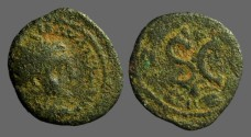 Ancient Coins - Severus Alexander AE20  SC within laurel wreath.  Antioch on Orontes.