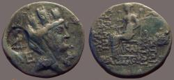 Ancient Coins - Cilcia, Hierapolis-Kastabala AE21 Tyche / Goddess seated