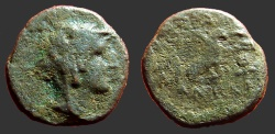Ancient Coins - Achaios,  AE19 Archaios as Alexander in elephant skin headress / Eagle