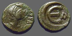 Ancient Coins - Justin I AE pentanummium  'E' w. alpha officiana.   SB#72.