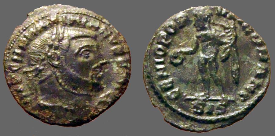 Ancient Coins - Maximianus I AE18 1/4Follis  Genius