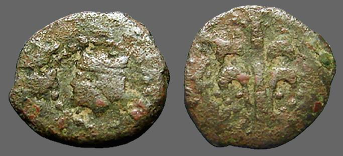 Ancient Coins - Carlos II AE14 Dinero el arbol de Valencia