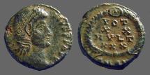 Ancient Coins - Constantius II AE4 Vows in wreath, VOT/XX/MVLT/XXX. Antioch, Turkey.