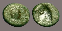Ancient Coins - Theodosius I AE4 with unstruck reverse