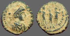 Ancient Coins - Honorius AE4 Theodosius II, Aracadius, Honorius stg. Antioch, Turkey.