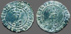World Coins - Fernando V & Isabella, 18mm billon Blanca