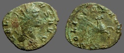 Ancient Coins - Gallienus AE Antoninianus.  Pegasus leaping rt.