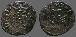 World Coins - France, Dombes. Henry II de Montpensier  AE17 Billon Liard.   1592-1608.