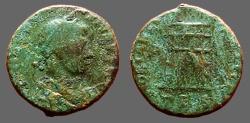 Ancient Coins - Theodosius I AE4 Nummus, Campgate, Thessalonica.