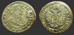 World Coins - Austria, Leopold I, the Hogmouth AR15 (1) Kruezer 1690's