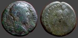 Ancient Coins - Septimius Severus AE26 Nicopolis ad Istrum.  Herakles wrestles Nemean Lion