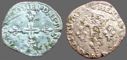 World Coins - France. Henry III,  AR23 Billon Gros of 3 Blancs