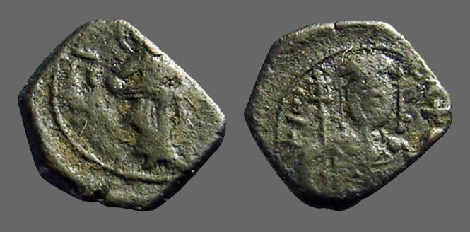 Ancient Coins - John II, Comnenus, AE 1/2 tetarteron, Thessalonika, Christ stg. / John II