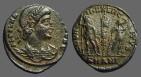 Ancient Coins - Delmatius, AE3 GLORIA EXERCITVS  2 soldiers, 1 Standard.