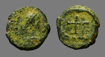 Ancient Coins - Arcadius AE4  Cross in wreath