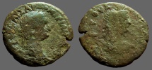 Ancient Coins - Domitian AE23 Diobol. Bust of Isis rt.  Alexandria, Egypt