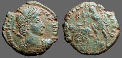 Ancient Coins - Constantius II AE Centionalis, Soldier spearing fallen horseman, Antioch, Turkey.