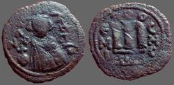 Ancient Coins - Ummayads imitative follis of Constans II. AE Fals. Hims