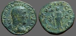 Ancient Coins - Philip I AE30 Sestertius.  Felicitas