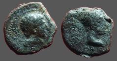 Ancient Coins - Augustus & Rhoemetalkes I  AE16 Thrace.